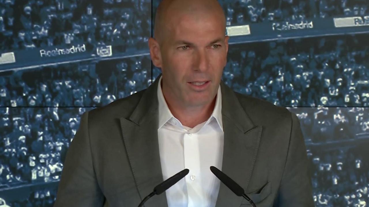 Real Madrid-trainer Zidane: 'Blij om thuis te zijn'