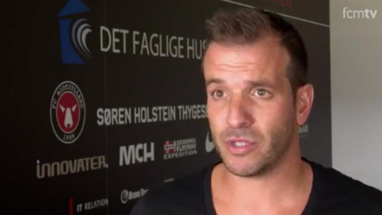 Van der Vaart geeft eerste interview als speler FC Midtjylland