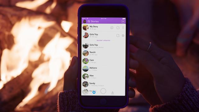 Snapchat laat gebruikers gezamenlijk Stories maken