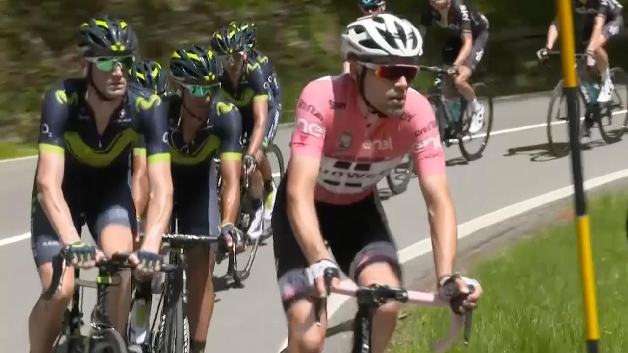 Samenvatting Giro: Dumoulin behoudt roze trui in elfde rit