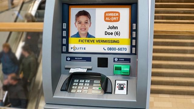 AMBER Alert gaat vermiste kinderen op geldautomaten weergeven