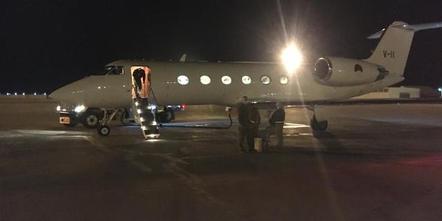 Gewonde Nederlandse militair uit Afghanistan geland op Vliegbasis Eindhoven