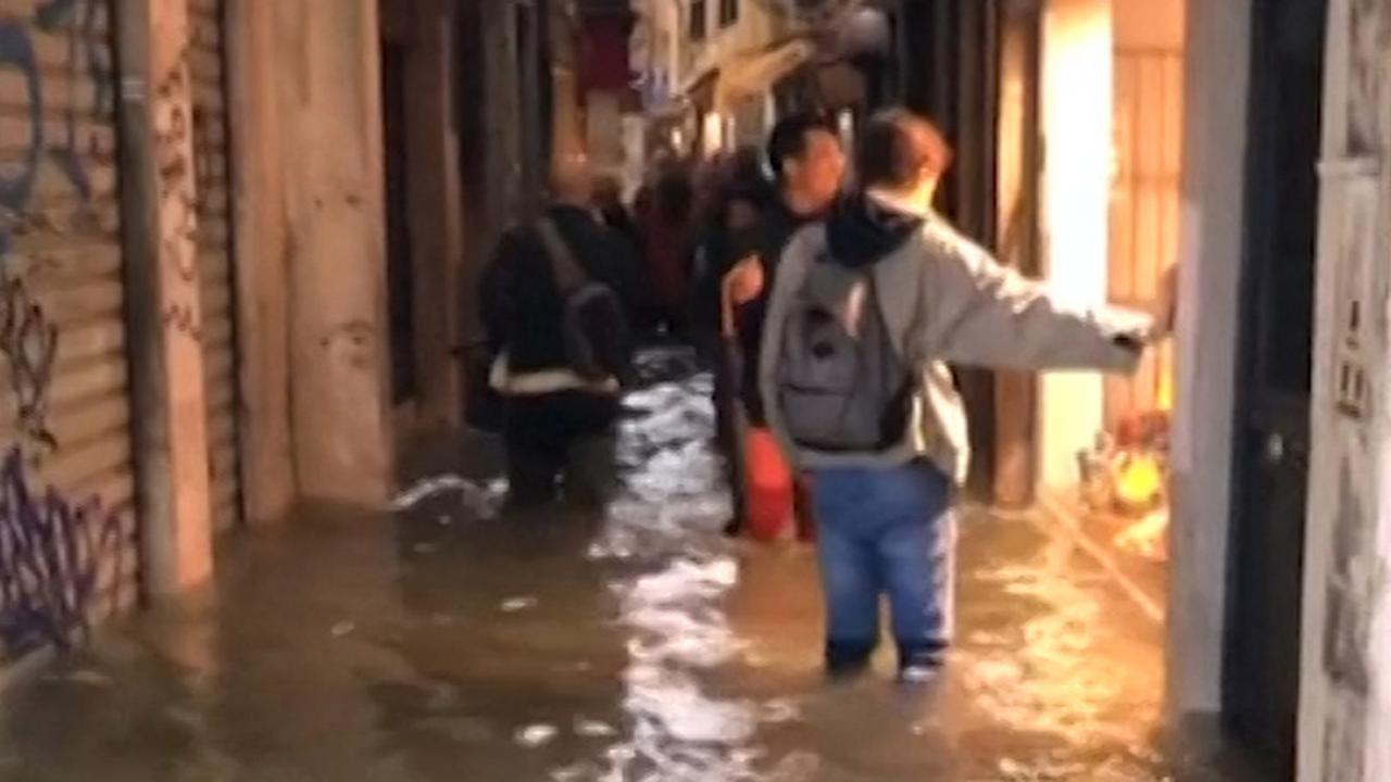 Venetië staat grotendeels onder water door noodweer