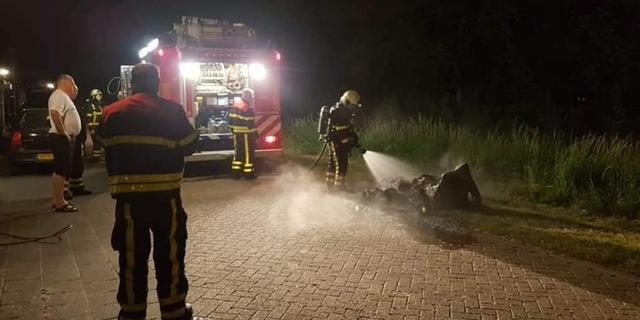 Containers in brand gestoken op verschillende plekken in Willemstad