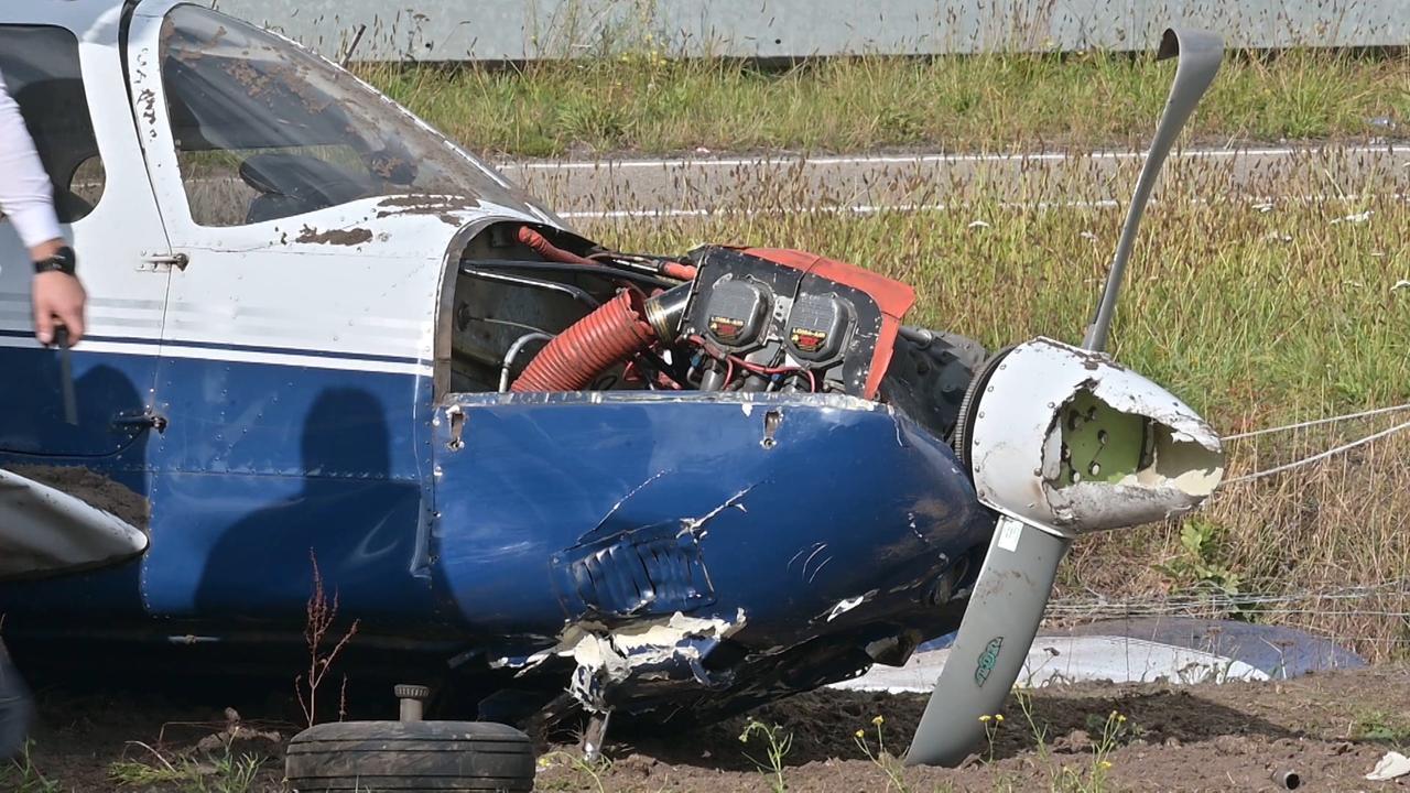 Hulpdiensten op de been na crash sportvliegtuig bij Breda