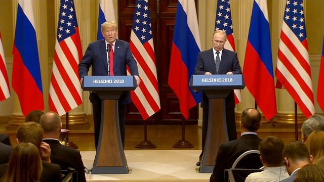 Trump en Poetin beantwoorden vragen na ontmoeting in Finland
