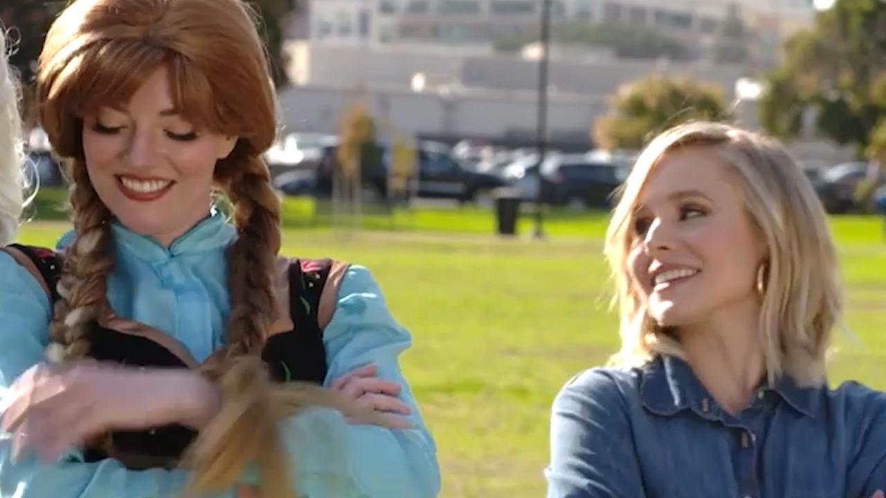 Kristen Bell helpt Frozen-kinderfeestje organiseren