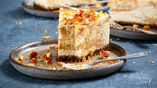 Karamelcheesecake kun je makkelijk zelf maken.