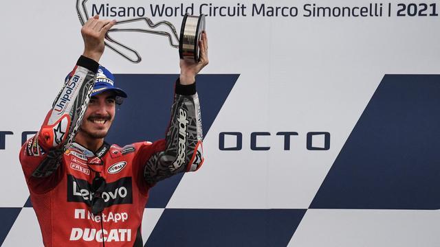 Francesco Bagnaia boekte zijn tweede overwinning op rij.
