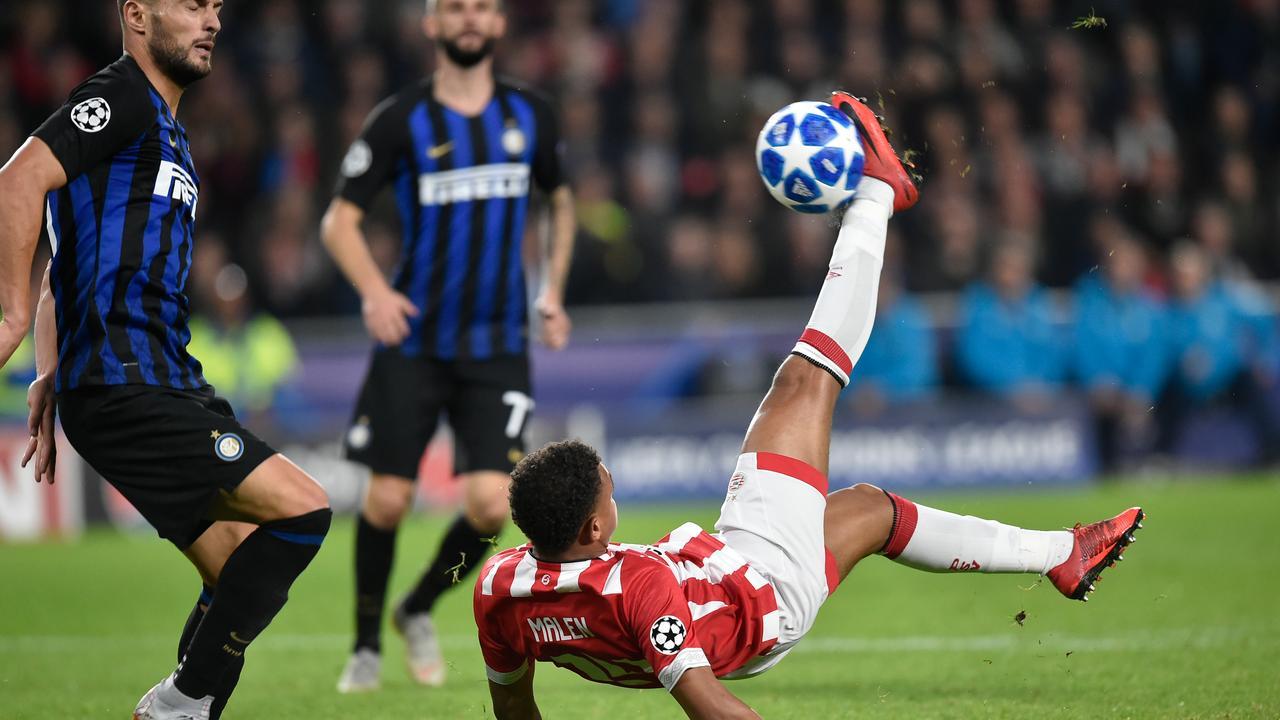 Malen met omhaal dicht bij gelijkmaker voor PSV tegen Inter