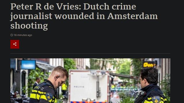 Berichtgeving over De Vries door de BBC.
