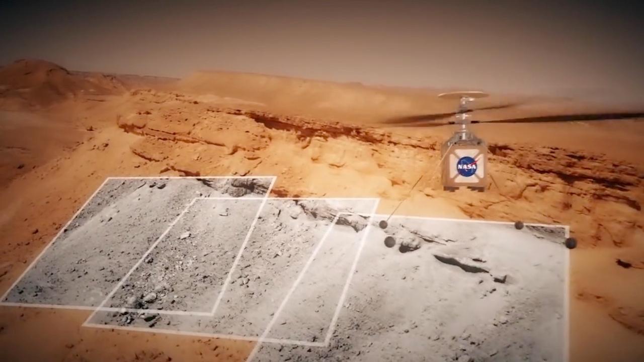 NASA toont helikopter die Mars moet verkennen