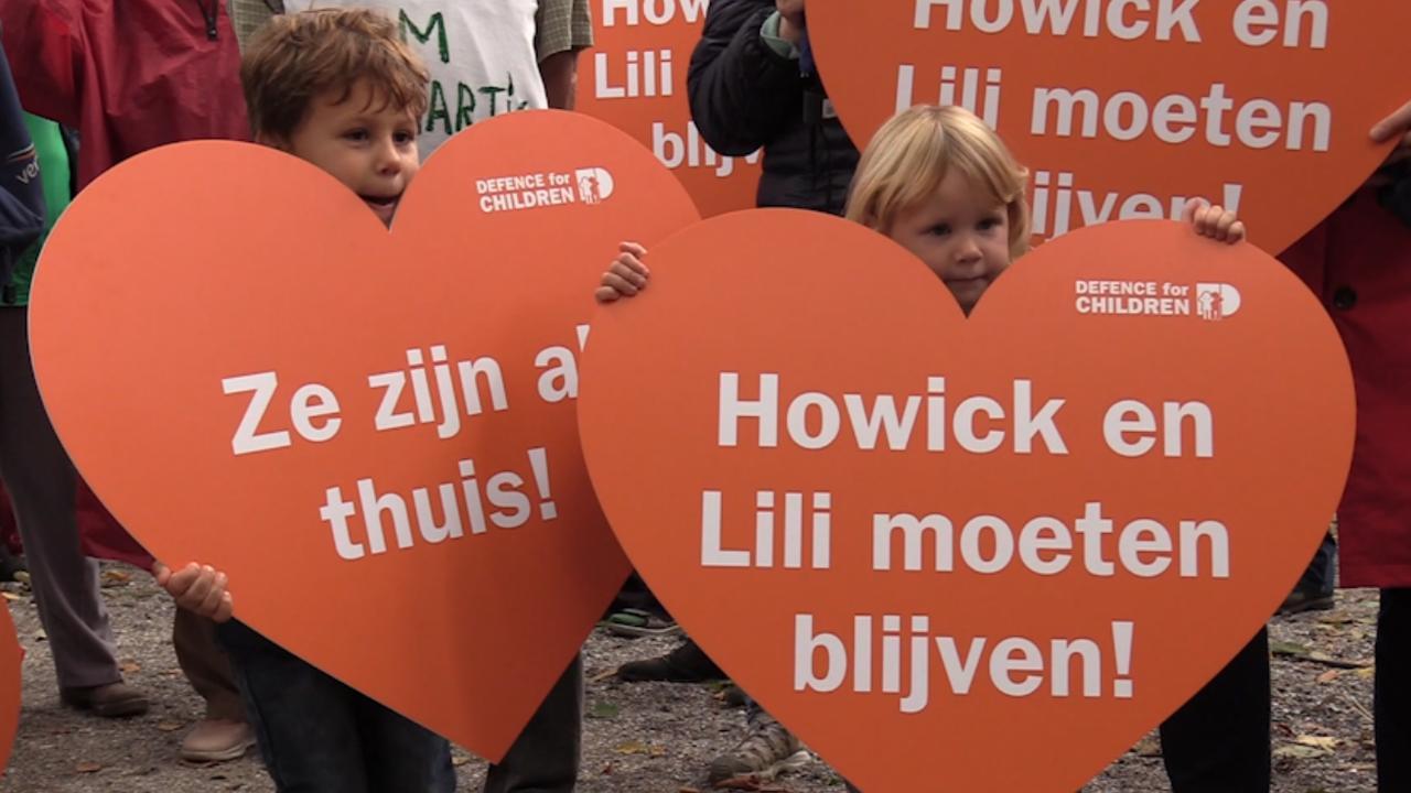 Demonstratie voor Lili en Howick in Den Haag: 'De politiek kijkt weg'