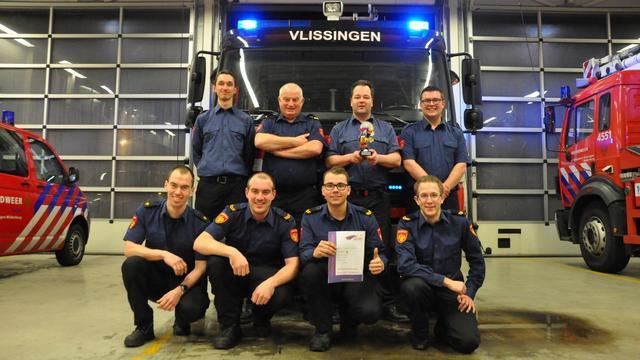 Vlissings brandweerkorps wint vaardigheidstoets
