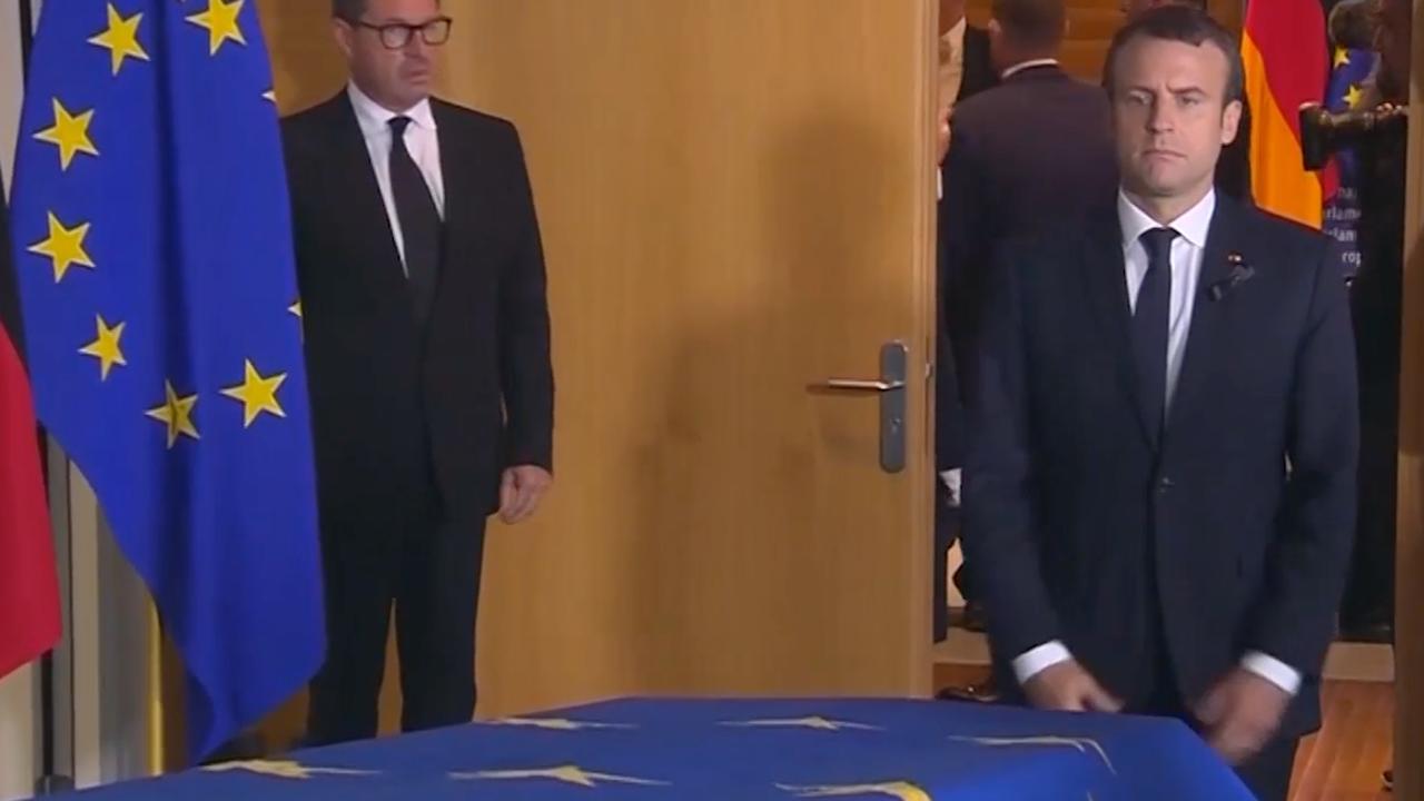 Wereldleiders bewijzen laatste eer aan Helmut Kohl in Straatsburg