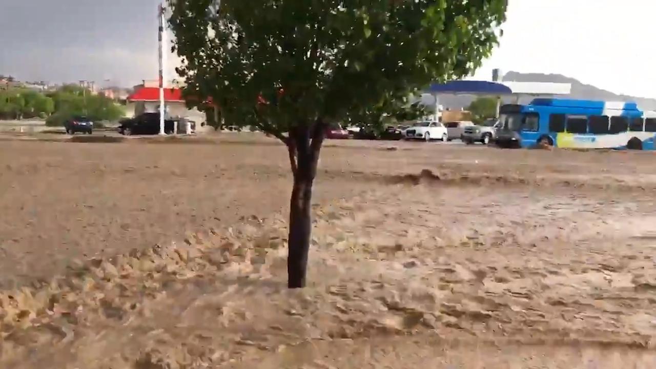 Zware hagelbui zorgt voor overstromingen in El Paso