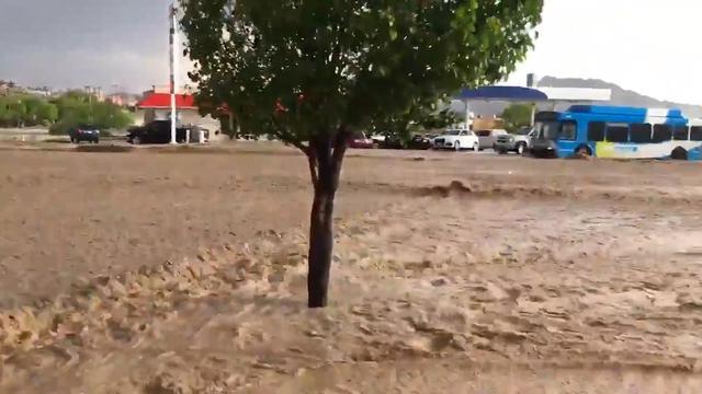 Zware hagelstorm zorgt voor overstromingen in El Paso