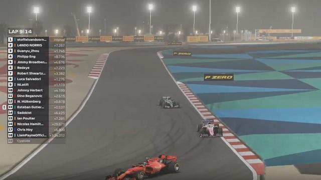 Formule 2-coureur Zhou wint virtuele Formule 1-race van Bahrein