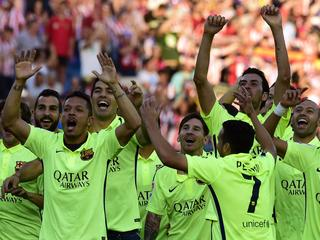Lionel Messi maakt enige doelpunt in Vicente Calderon