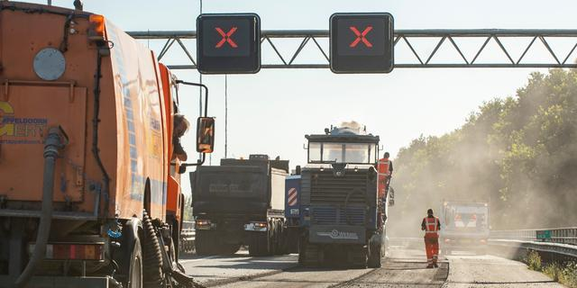 Onderhoud aan wegdek A16 komende weekenden afgelast