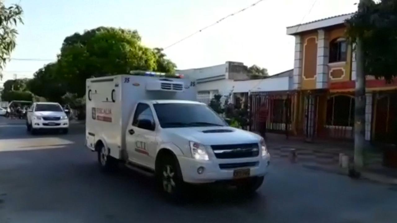 Hulpdiensten ter plaatse na aanslag Colombia