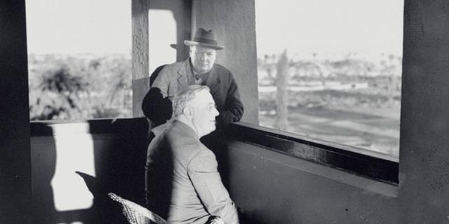 Schilderij van Churchill voor Roosevelt geveild voor ruim 8 miljoen euro