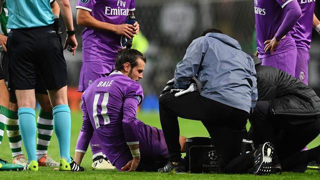 Real-aanvaller Bale loopt elf dagen voor Clasico enkelblessure op