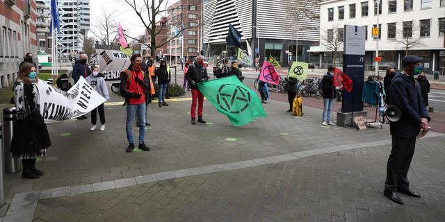 Protest Extinction Rebellion bij ministerie van Economische Zaken en Klimaat