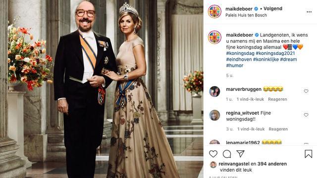 Maik de Boer ziet zichzelf wel zitten als Koning der Nederlanden. (Foto: Instagram/Maik de Boer)