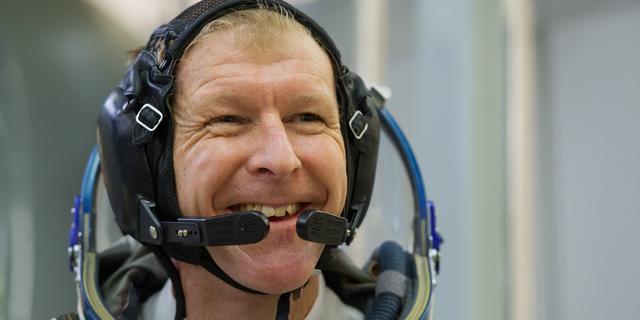 Britse astronaut rent marathon van Londen in de ruimte
