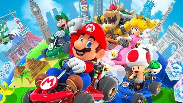 Nintendo voegt na een jaar landschapsmodus toe aan Mario Kart Tour-app