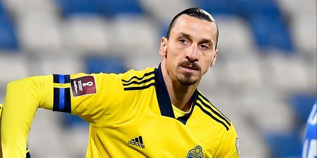 Ibrahimovic toch niet naar EK met Zweden vanwege knieblessure
