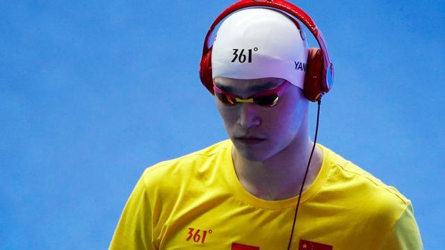 Topzwemmer Sun acht jaar geschorst vanwege dwarsbomen dopingtest