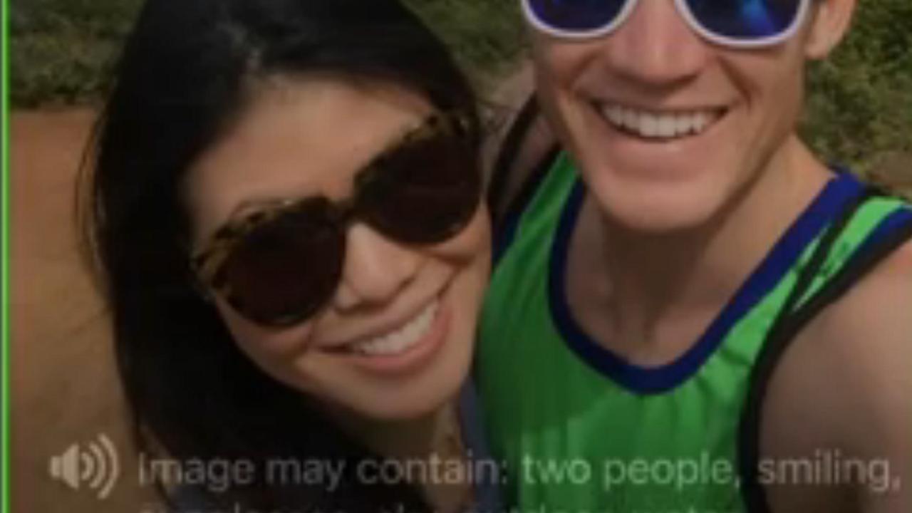 Facebook-app leest foto's voor aan blinden