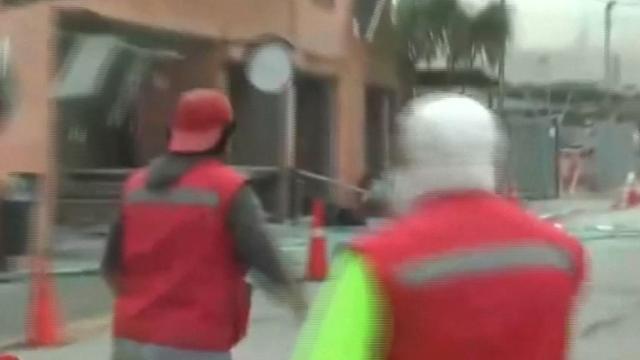 Camera legt paniek na explosie in ziekenhuis Chili vast