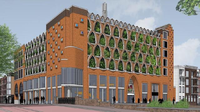 Alphense bibliotheek krijgt groene gevel en daktuin