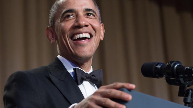 President Obama voor laatste keer bij Correspondents' Dinner