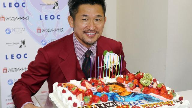 Japanse voetballer Miura (48) gaat nog een jaar door bij Yokohama FC