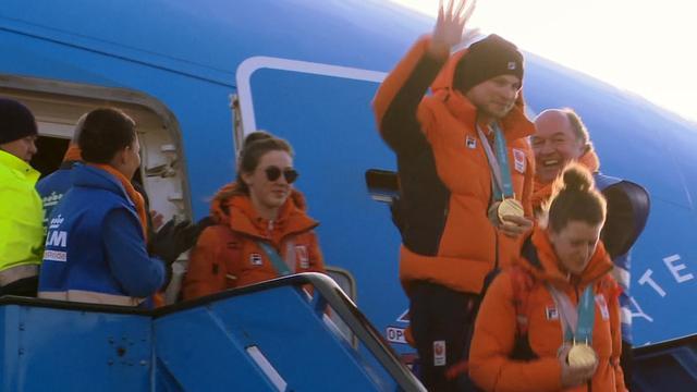 Olympische sporters landen op Schiphol