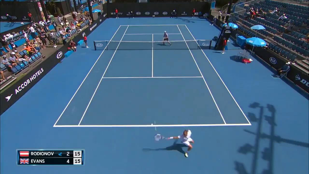 Brit slaat winner zonder te kijken in kwalificaties Australian Open