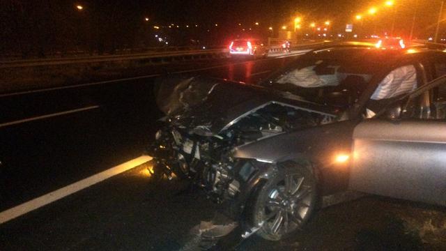 Gewonden door ongeluk bij achtervolging A22.