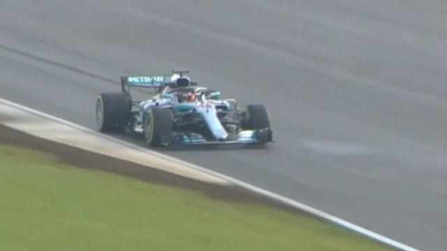 Hamilton maakt op Silverstone eerste meters in nieuwe Mercedes
