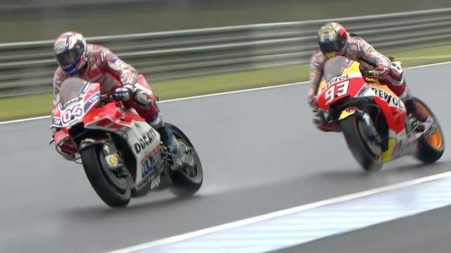 Dovizioso wint nipt voor klassementsleider Marquez in MotoGP Japan