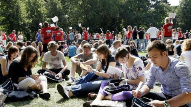 Duizenden studenten in de stad voor UIT-week