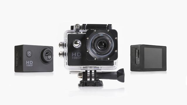 Action Sports Camera Set van 74,95 euro voor 19,95 euro