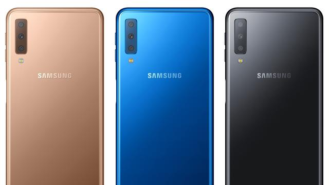 Samsung onthult Galaxy A7 met drie camera's op achterkant