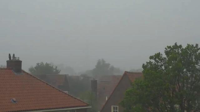 Timelapse ontstaan noodweer boven Hilversum