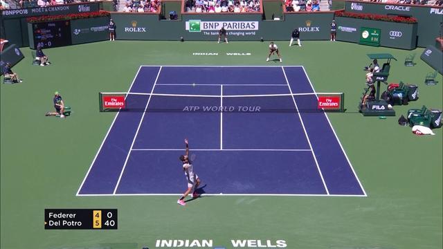 Del Potro verslaat Federer in zinderende finale Indian Wells