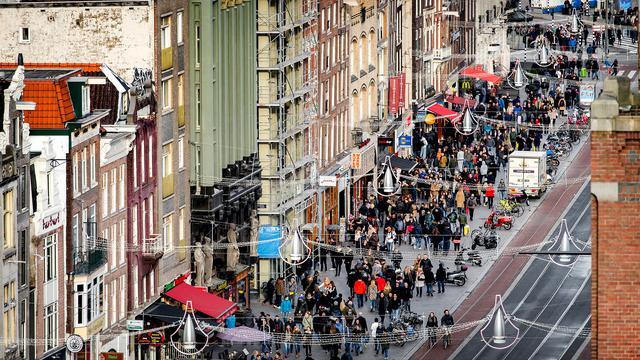 Amsterdam verreweg grootste trekpleister buitenlandse toeristen