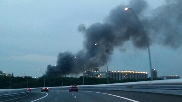 Brand bij industriecomplex Chemelot in Geleen